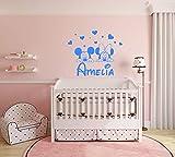 Nombre personalizado etiqueta de la pared Mickey Mouse Minnie Mouse Calcomanías de pared Niña Vinilo Estrella Corazón...