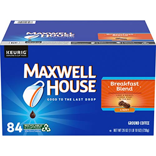 Maxwell House Breakfast Blend Light Roast KCup Coffee Pods 84 Pods