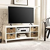 Safavieh American Homes Collection Rooney Distressed Black Entertainment Unit...