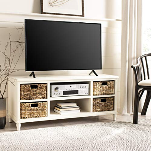 Safavieh American Homes Collection Rooney Distressed Black Entertainment Unit