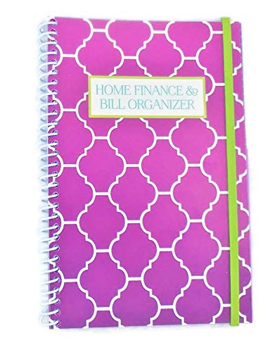 Home Finance & Bill Organizer with Pockets (Purple Arabesque)