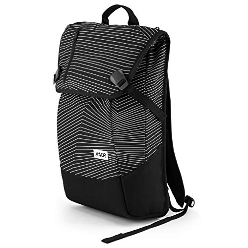 AEVOR Daypack - erweiterbarer Rucksack, ergonomisch, Laptopfach, wasserabweisend, Fineline Black