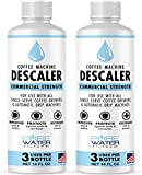 Descaler for Coffee Machines (6 Total Uses) - Made in USA - Commercial Strength Descaling Solution Compatible with All Keurig K-Cup Pod Coffee Brewers and Espresso Makers