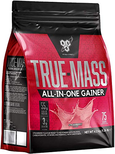 BSN All In One, Proteine Whey in Polvere per Aumentare la Massa Muscolare con Creatina, Glutammina e Vitamina D, Fragola, 4.2 kg, 25 Porzioni