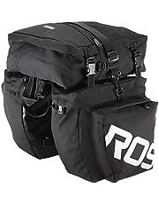 Festnight 3 in 1 Road MTB Mountain Bike Bag Bicycle Pannier Rear Seat Trunk Bag