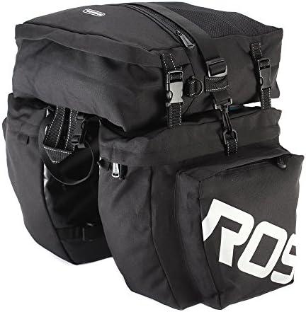 ConPush Bicycle Pannier Rack Waterproof Seat Multifunctional Bag 600D MTB Road Bike Rack Carrier 27L