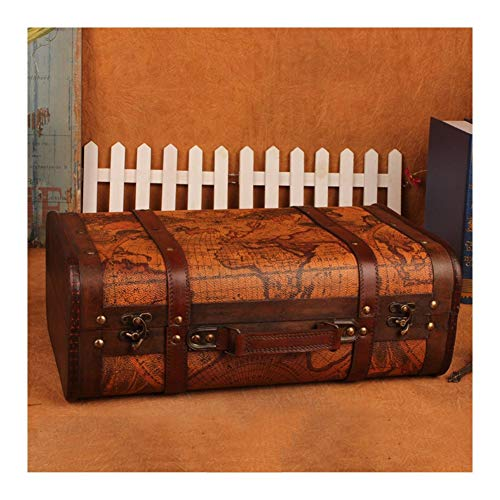 YOSPOSS Retro Koffer Aufbewahrung kz1882-w953 Stil Old World MAP Koffer Atlas Design Fall Storage Trunk Holz Hochzeit Post Box