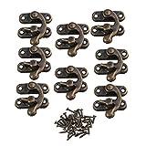 BQLZR Vintage candado de bronce aldaba para candado gancho cuernos de hierro Candado para ...