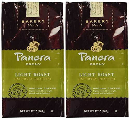 Panera Bread, Light Roast, 12 oz. Ground Bag, Light Roast Coffee, (6) Bags