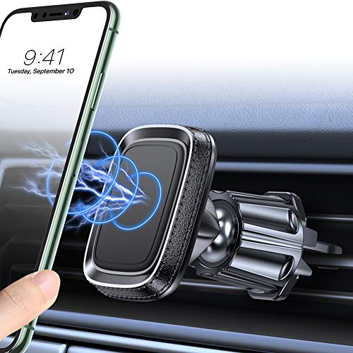 Miracase Car Phone Mount Holder,[2020 Upgraded] Strong Magnetic Car Phone Mount Air Vent Universal Car Cell Phone Holder Compatible with iPhone 11/11 Pro Max/XR/Xs/XS Max /8/7/6,Pixel and More (Black)