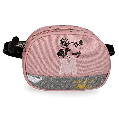 Disney Mickey The Blogger Riñonera Pequeña Rosa 17x12x6 cms PVC y Poliéster