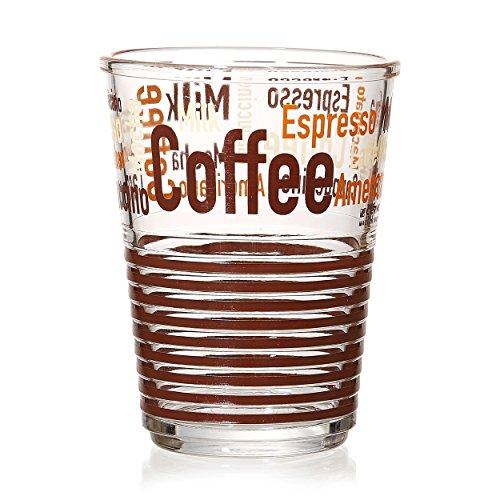 Ritzenhoff & Breker Latte Macchiato Glas, Milchkaffee Becher, Kaffee Tasse, 270 ml, 167399