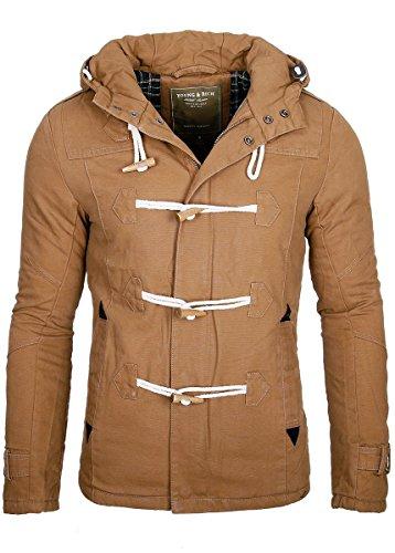 Young rich headline & veste chaude à capuche parka manteau d'hiver pour homme noir - Marron - XX-Large