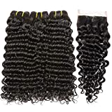 PF Hair Brésiliens Vierges Vague Profonde de Cheveux Bouclés 100% Cheveux Humains...