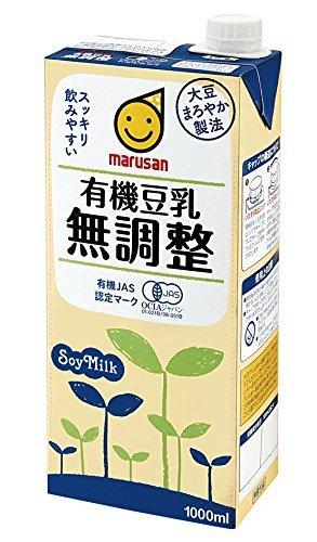 マルサン 有機豆乳無調整 1L×12本 紙パック