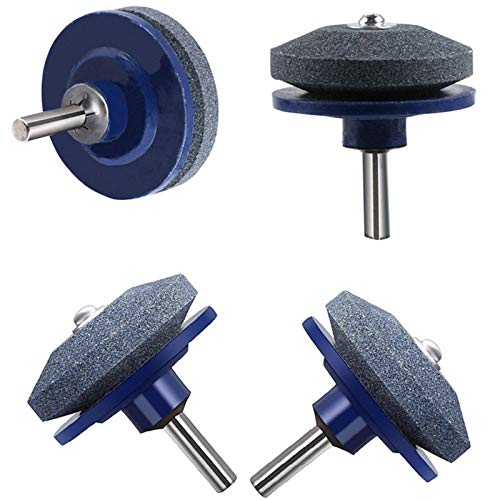 4 Pcs Mower Blade Sharpener for Most Power and Hand Drill