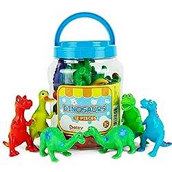 6. Boley Learning Dinosaur Bath Toys (12 Pieces)