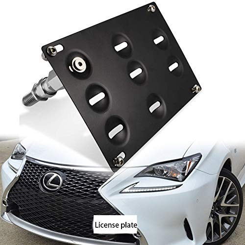 Jyeee Front Bumper Tow Hook License Plate Mount Bracket Holder Bolt On for Lexus RC RC-F GS LS ES RX