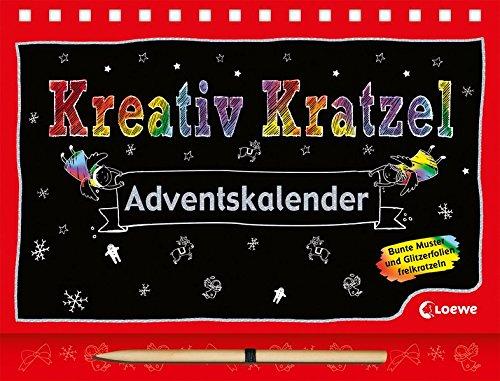 Kreativ-Kratzel-Adventskalender (Kreativ-Kratzelbuch)