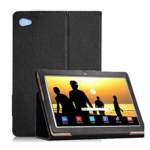 YGoal Funda para YESTEL T5/Blackview Tab8 - Ligero Multiángulo PU Cuero Business Folio Carcasa para YESTEL T5 10 Pulgada Tablet, Negro