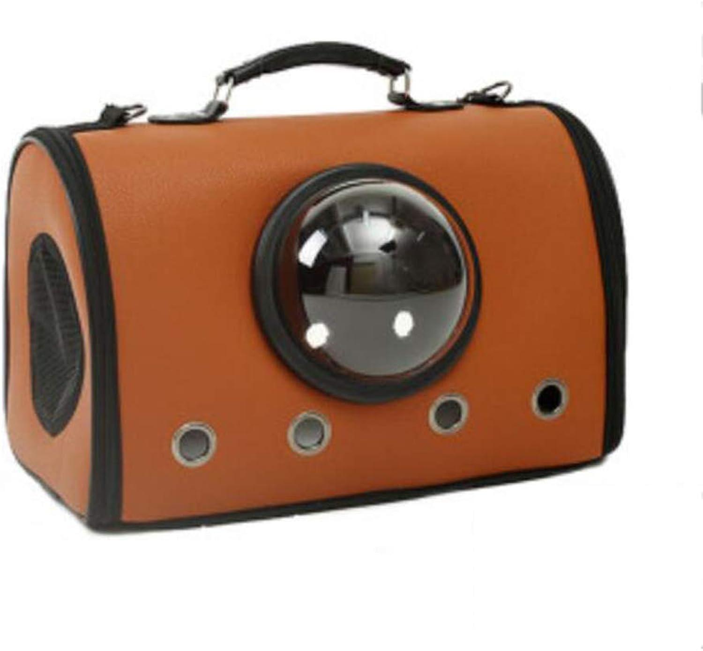 FJH Cat Bag Out Portable Handbag Space Pet Cabin Cat Backpack Takeaway Bag Cat Bag Big Out Back Cat Bag (color   Caramel colour)