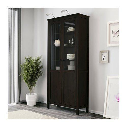 IKEA armario con Panel/puerta de cristal, Marrón 1626.8235.634: Amazon.es: Hogar