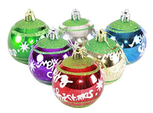 EOZY-Set Glitter Palline Ciondolo per Albero di Natale Decorazione Natalizia