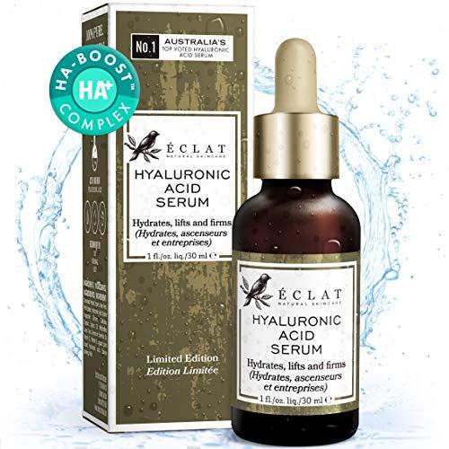 Hyaluronsäure Serum - 100% reine Hyaluronsäure - Schnell einziehende feuchtigkeitsspendende Anti-Aging & Anti-Falten Creme zum glätten feiner Linien und Falten für Gesicht und Augen