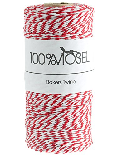 100 m baker' S Twine rosso/bianco, 2 mm