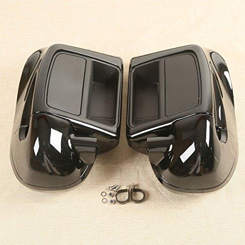 XFMT 6-1/2' Speaker Box Pod + Lower Vented Fairing Compatible with Harley Touring FLHT FLHX FLHR 2014-2020