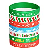 FEPITO 35 Pieces Christmas Wristband Silicone Wristbands Rubber Band Bracelets for Christmas Party Decoration 7 Merry Xmas Patterns