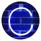 Light Up Letters for Wall Decor, Neon Letter Lights Alphabet Words Signs Xmas Lamp for Kids Teen Girls Bedroom Decor -blue Letter C