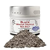 Italian Black Winter Truffle Sea Salt - Gourmet Infused Salt - Non GMO - Sustainably Sourced - Small Batch - Magnetic Tin - Hand Packed