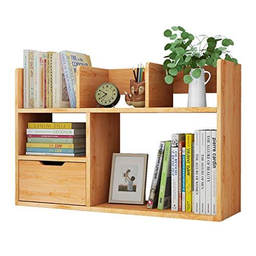 DD- Desktop Boekenkast Opbergmeubel Met Lade,  Houten Boekenkast Bureau Organizer, for Bureaus, Bureaus, Computertafels, Kaptafels