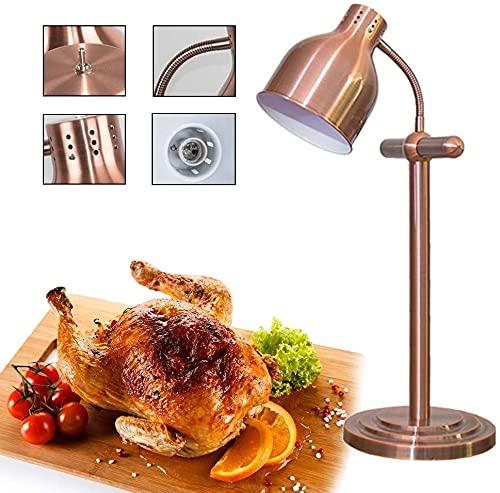 Comida buffet, 2 para lámpara de colina de la lámpara lámpara calentador de alimentos buffet lámpara de calor calentador lámpara de calentamiento de alimentos 250W Manguera universal 360 ° Ajuste más