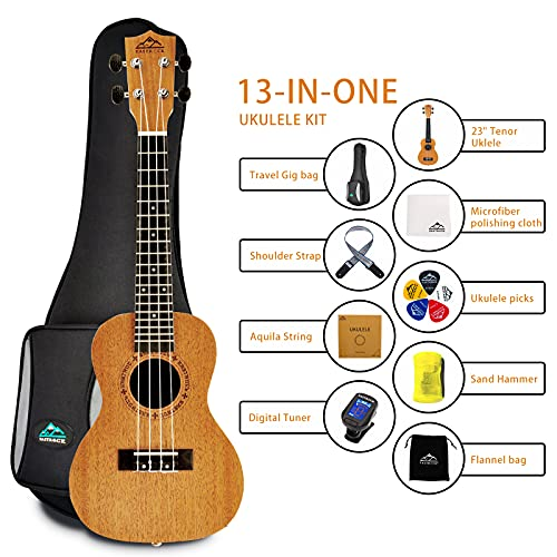 Eastrock Ukelele Soprano Concert Mahogany, Guitarra Niño, 23 pulgadas Concierto Ukelele de caoba, Kids Ukelele Estuche para principiantes, niños, estudiantes y, con bolsa y púa
