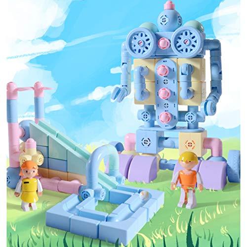 kids toys Blocs de Construction magnétiques, bébé Blocs de Construction magnétiques pièces Pipeline 2-3-6-8 Ans Enfants Blocs magnétiques Assemblage Variable Aimant Jouets éducatifs