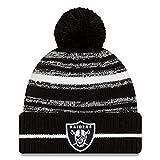 New Era Sombrero de punto con pompón de deporte de las Vegas Raiders 2021 NFL para hombre...