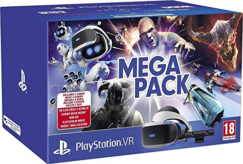 PlayStation VR Méga Pack : Caméra + VR Worlds (Digital) + Skyrim + Doom + WipEout + Astro Bot (Digital)