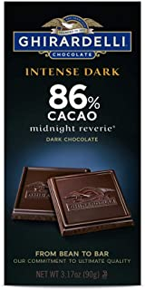Ghirardelli Intense Dark Chocolate Bar - 86% Cacao - Dark chocolate with hints of cherries and plums - 3.17 oz. (90g)