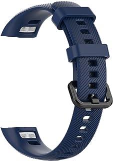 Qiekenao Bransoletka do zegarka Huawei Band 3 Pro i Band 4 Pro, miękki silikonowy pasek na nadgarstek bransoletka zastępcza
