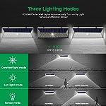VOSONX Solar Lights Outdoor - 126 LEDs Solar Powered Security Lights, Wireless Light Sensor & Motion Sensor Light, IP65 Waterproof Outdoor Wall Lights with 270° Wide Angle for Front Door, Garage, Yard 3 Lighting Modes