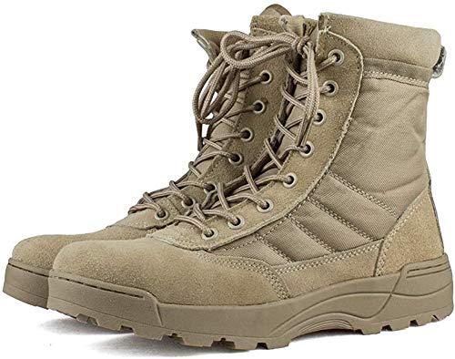Scarpe Lavoro Militare Uomo - Deserto Stivali Esercito Tattico All'aperto Gli Sport Campeggio Escursionismo Cerniera Stivali da Combattimento