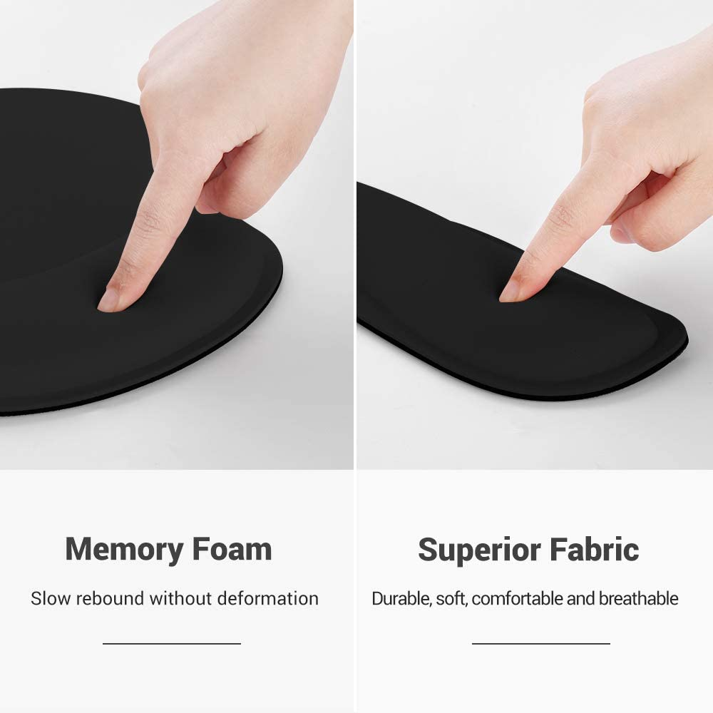Durable Comfortable 2 Set for Laptop Office Gaming Working Black AtailorBird Mouse Pad with Wrist Support Keyboard Wrist Rest 2 Piece PU/&Cork Coaster Free