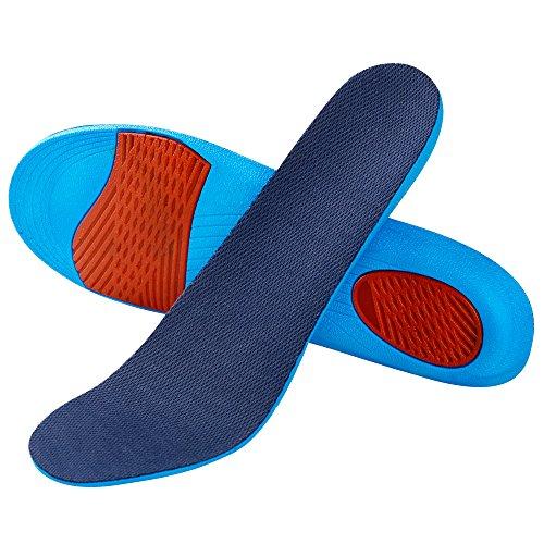 SOUMIT Erhöhung Höhe Einlegesohle | Weich Memory Schaum Schuheinlagen mit Dämpfende Silikon-Gel Sohlen für Alltag Beruf und Schützt Ihre Füße (40/45 EU, Erhöhen1,7CM)