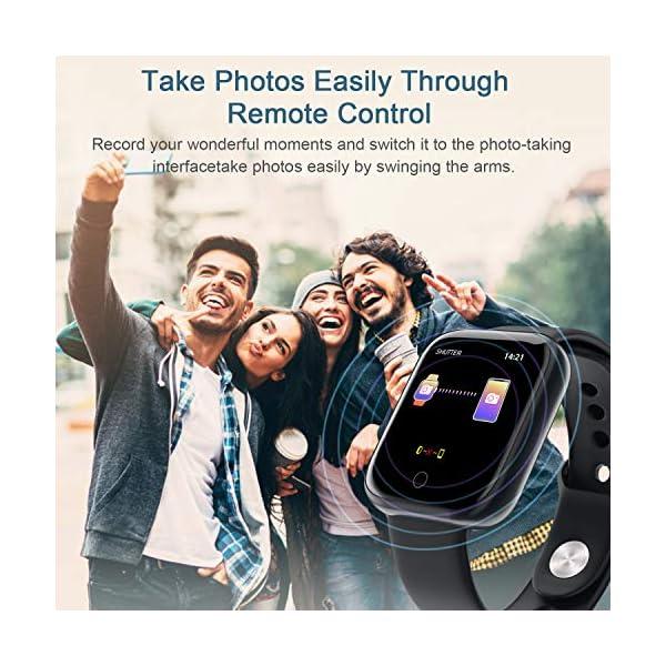 Smart Pulsera Fitness Tracker- Reloj Inteligente para Hombres Mujeres Bluetooth Rastreador de Actividad con Monitor de… 3