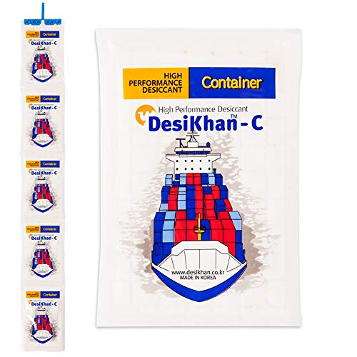 Buy Discount DesiKhan Dehumidifier Desiccant for Containers 1 Set (5 Pieces) 450% Moisture Absorptio...