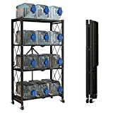 Storage Shelves, 4-Shelf Foldable Metal Shelving Units 28' W x 14' D x 50' H for Garage...