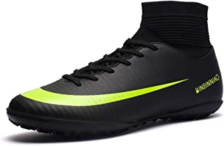 Binbinniao CR Soccer Boots Indoor - TF Turf Cleats Boys - High Tops Ankle Boots Women Turf - Messi Outdoor Soccer Shoes - ...