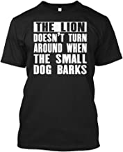 The Lion Doesnt Turn Around XL - Black Tshirt - Hanes Tagless Tee